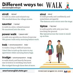 Different Ways to Walk ESL Vocabulary Lesson                                                                                                                                                      Mais