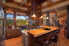 Kitchen with a View! - Yellowstone Club, Big Sky, MT - Photography: © Karl Neumann