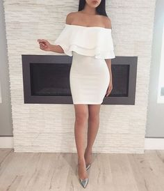 Off-the-shoulder Sheath Homecoming Dresses Formal Dresses - Women Fashion Trends Sexy Dresses, Cute Dresses, Beautiful Dresses, Cute Outfits, Summer Dresses, Beach Dresses, Trendy Outfits, Dress Outfits, Cheap Fashion