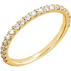 14kt Yellow 3/8 CTW Diamond Band