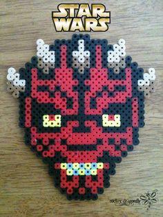 Darth Maul Star Wars perler beads by RockerDragonfly on deviantART