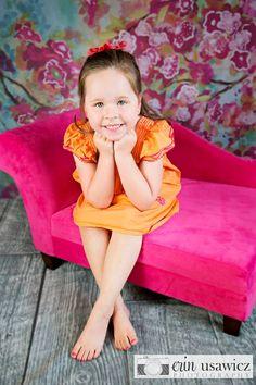Children's studio photography, pink, little girl, #intuitionbackgrounds #beckygregory