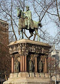 Liège , Belgium  - Statue of Charlemagne