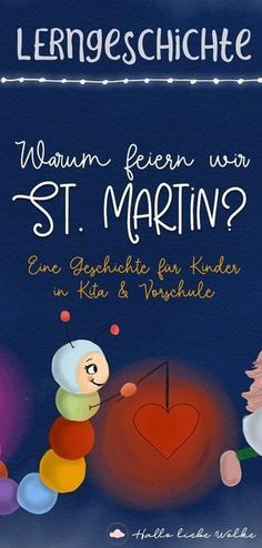 Firefly Bert and the Lantern - Why do we celebrate St. A learning story for children. - Why do we celebrate Saint Martin? Glow worm Bert would also like to walk with the lantern on Martin - Hl Martin, Saint Martin, Free Stories, Stories For Kids, Fireflies Craft, Kindergarten Portfolio, Learning Stories, School Birthday, Read Aloud