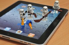 Storm troopers cleaning #iPad