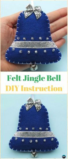 Diy christmas ornaments 588845720004506886 - DIY Felt Jingle Bell Ornament Instructions – DIY Felt Christmas Ornament Craft Projects [Picture Instructions] Source by thelmabellido Felt Christmas Decorations, Christmas Ornaments To Make, Christmas Sewing, Felt Ornaments, Handmade Christmas, Holiday Crafts, Christmas Diy, Christmas Pictures, Ornaments Ideas