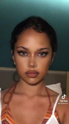 Baddie Makeup, Edgy Makeup, Makeup Eye Looks, Creative Makeup Looks, Black Girl Makeup, Girls Makeup, Makeup Art, Teenage Makeup, Brown Skin Makeup