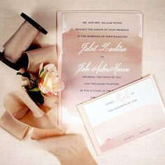 Neutral Watercolor Wedding Invitation honey-paper.com #santaynezwedding #santabarbarawedding #losolivoswedding