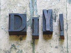 Vintage Type Letters DIY Printers Wood Block by SimplyCottageChic, $25.00