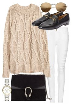 """""""Untitled #20555"""" by florencia95 ❤ liked on Polyvore featuring Frame Denim, Gucci and Burberry"""