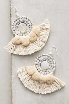 Anthropologie Textural Drop Earrings | More Sweet Summer Styles @guavahoneylife