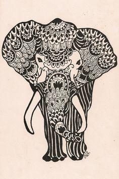 elephant micron sketch. ©april black 2011
