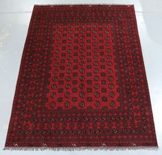 Tekke Bohkara Hand Knotted Wool Tribal Afghan Rug - 273x200cm (Ref. 22)