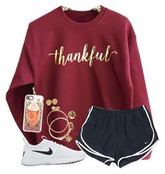 """What Are You Thankful For?"" by twaayy ❤ liked on Polyvore featuring NIKE, Casetify, Allurez and Alex and Ani"