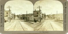 St Germain St Germain Stereoview Manchester NH Panorama E Manchester | eBay