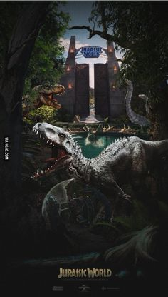 jurassic park world Jurassic World : les dinosaures attaquent dans Jurassic Park 4 ! Affiche cinma du film Jurassic World. Jurassic World Poster, Jurassic Movies, Jurassic World 2015, Jurassic Park Series, Jurassic Park 1993, Jurassic World Fallen Kingdom, Jurassic World Wallpaper, Michael Crichton, Jurrassic Park