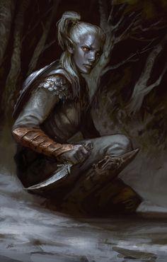 "mystery-of-silence: ""Drow 2 - Forgotten Realms by Fesbraa """