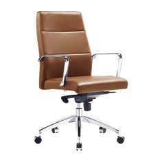 Manhattan Management Office Chair (100% Italian Leather) - Office Chairs - Home Office - FURNITURE