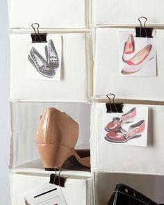 Módulo de zapatero de tela con fotos de zapatos