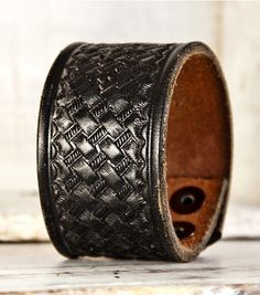 Leather Cuff Bracelets, made from vintage men's belts - varying prices, cheapest is $25