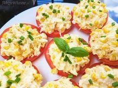 Sałatka na pomidorach – pyszna przekąska na grilla lub na imprezę Appetizer Salads, Appetizer Recipes, Salad Recipes, Appetizers, Healthy Dishes, Healthy Recipes, Healthy Food, Kids Meals, Food Porn