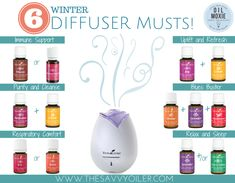 "... here I will tell you what Young Living Essential Oils my family has been diffusing like crazy! Here are what we believe to be ""6 Winter Diffuser Musts!"""