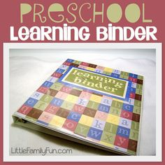 Little Family Fun: Learning Binder This is going to be how I do Marty's summer fun activities. Fill it up weekly with things to do :) Preschool Binder, Preschool At Home, Preschool Kindergarten, Preschool Learning, Teaching Kids, Kids Learning, Kindergarten Readiness, Learning Time, School Readiness