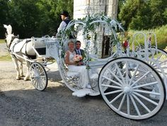 After the ceremony at Perona Farms in Andover NJ The happy couple is on the way to the reception at the Barn.