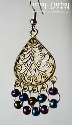 Peacock Earrings #diy #earrings #fashion
