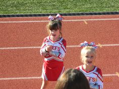 Laconia Chiefs cheerleaders from New Hampshire in Chassé uniforms!