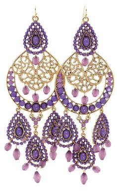 Great Statement Earrings Accessories Beauty Style Fashion Purple Wedding Jewelry