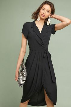 Shop Anthropologie's latest selection of new dresses, from maxi to midi dresses. Shop floral & lace for spring dresses, summer dresses, fall dresses, & winter dresses. Wrap Dress Formal, Spring Dresses, Dresses For Work, Linen Dresses, Wrap Dresses, Travel Dress, Ladies Dress Design, Fit Flare Dress, Dress To Impress