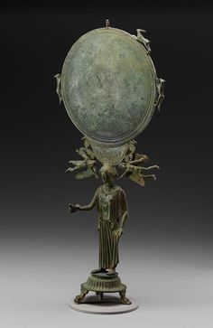 Mirror and stand in the form of a female figure, possibly Aphrodite | MFA for Educators