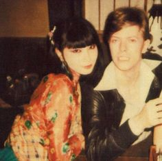 "taishou-kun: "" berlin-1976: "" David Bowie and Japanese supermodel Sayoko Yamaguchi "" Yamaguchi Sayoko 山口 小夜子 (1949-2007) & David Bowie (1947-2016) - Japan - 1980s "" This pic is too cute. Two of my biggest icons together."