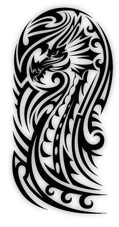 Bicep Tribal Dragon by sbink                                                                                                                                                      Más #maoritattoossleeve
