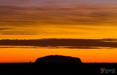 Sunrise at Uluru in the Northern Territory of Australia