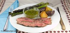Marijuana Recipes - Grilled Flank Steak with Chimichurri Sauce - Powered by @cannnabischeri