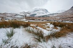 Winter landscape in Glen Etive, Highlands