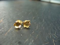 18K Vermeil Blueberry Bud Posts by ManiDesigns on Etsy, $76.00