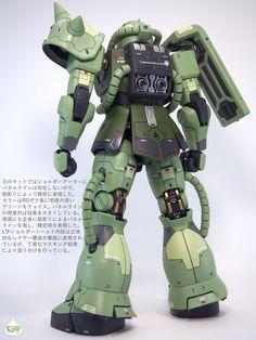 http://gunsya.jp/article/4221 Gundam plastic kit 1/100 MS-06J ZAKU2