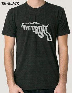 Mens / Unisex DETROIT TRIBLEND TShirt smoking by TheTriBlendShop