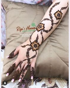 Henna Tattoo Designs Simple, Indian Henna Designs, Latest Henna Designs, Floral Henna Designs, Finger Henna Designs, Henna Art Designs, Mehndi Designs For Girls, Mehndi Designs For Beginners, Modern Mehndi Designs
