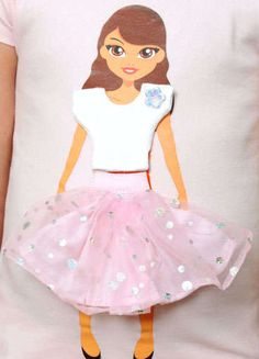 Lotty Dotty Dolls are dolls kids can wear on tee shirts or tote bags. It's all about choice as girls get to choose their favorite doll on one of the 100% organic cotton tee shirts and then they also get to choose the clothing options for the doll.
