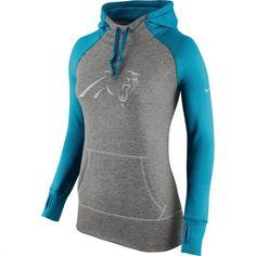 Carolina Panthers Women's Charcoal Platinum Nike Performance Hoodie #panthers #football #nfl