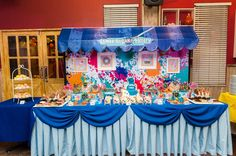 James' Art Attack / Painting Themed Party – Sweet Treats Tablescape Craft Party, Party Themes, Sweet Treats, Arts And Crafts, Birthday Cake, Sweets, Painting, Meet, Gummi Candy