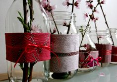 Recycled Vases, Pots, and Tea Lights