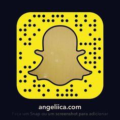 Mazéclaru que eu tô no 👻 #Snapchat! É só me procurar como angeliica.com e... Achô! 🙂🙃😛