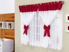 New Diy Kitchen Curtains House 39 Ideas Curtains And Draperies, No Sew Curtains, Crochet Curtains, Valances, Curtain Styles, Curtain Designs, Sewing Room Design, Shabby Chic Kitchen, Colorful Curtains