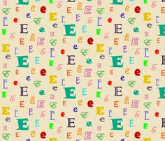 Initially_E fabric by lesleyclover-brown on Spoonflower - custom fabric