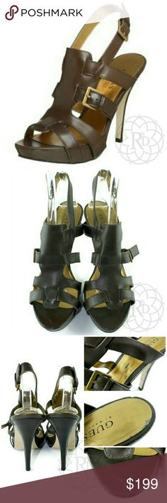 Spotted while shopping on Poshmark: NEW Guess EULA Brown Leather Gladiator Heels! Gladiator Heels, Guess Bags, Guess Shoes, Fashion Design, Fashion Tips, Fashion Trends, Leather Heels, Integrity, Brown Leather